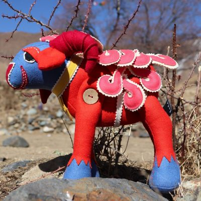 Tibetan Handmade Toy Sheep Red