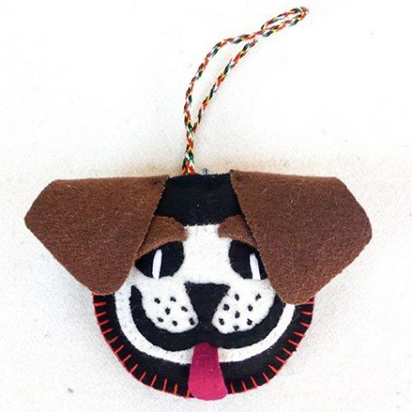 Mastiff keychain ornament