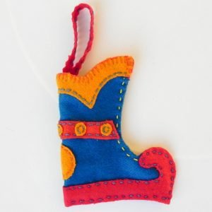 Mini Christmas stocking blue base