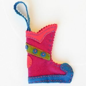 Mini Christmas stocking red base