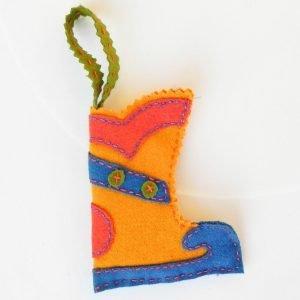 Mini Christmas stocking yellow base