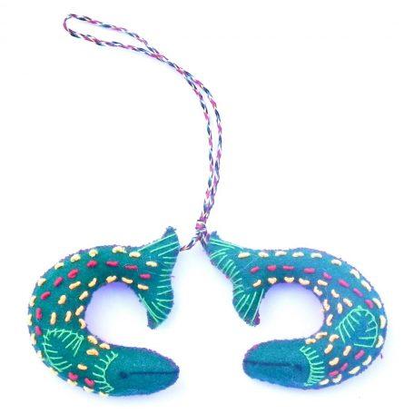 Small fish ornament green
