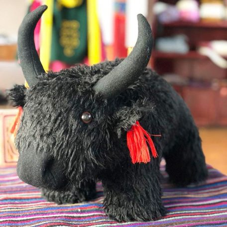 Baby stuffed yak toy