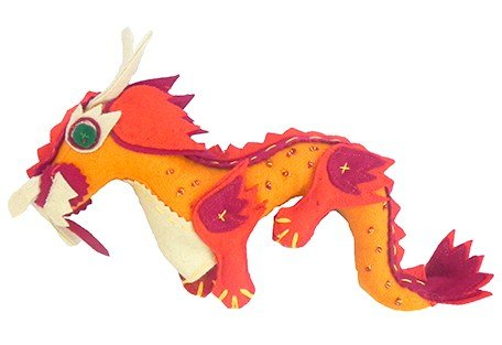 Dragon finger puppet yellow