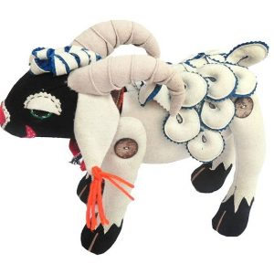 Sheep stuffed toy black and white