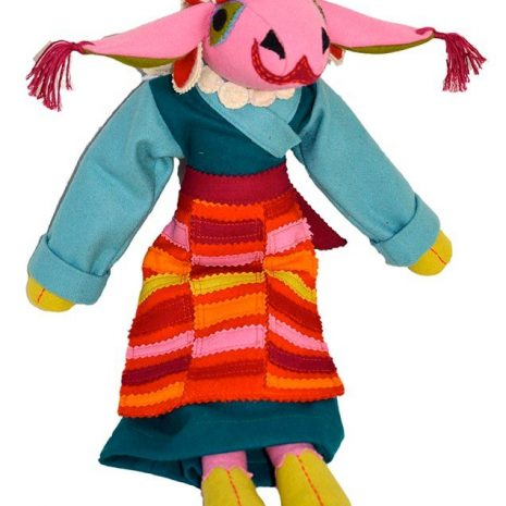 Sheep toy mother with traditional dress