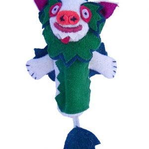 Snow lion finger puppet green