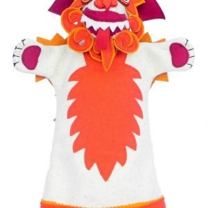 Snow lion hand puppet orange