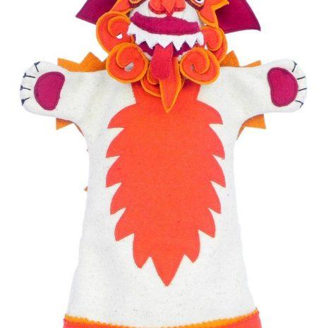 Snow lion hand puppet orange