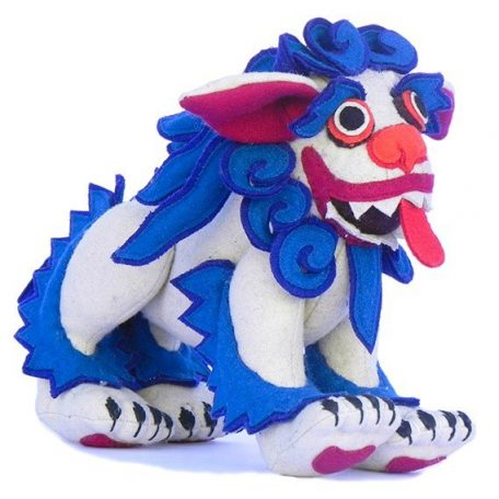 Snow lion stuffed toy small blue