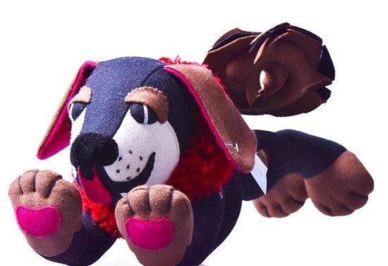 Tibetan Mastiff stuffed toy side view