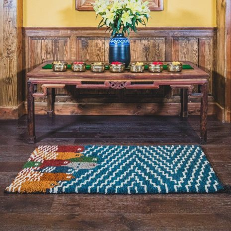 Fish design sheep wool hand made carpet interior