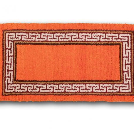 Orange ground with great wall sheep wool carpet
