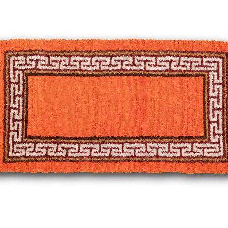 Orange ground with great wall sheep wool carpet